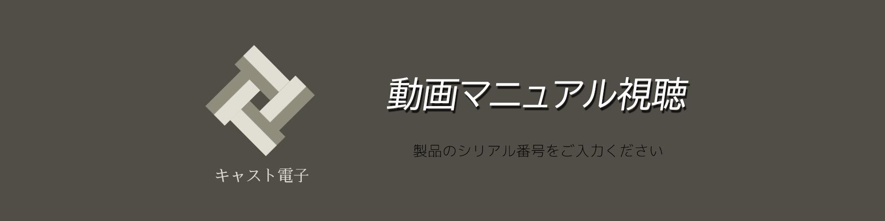キャスト電子 動画マニュアル視聴